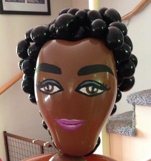 african american balloon sculpture