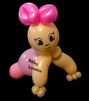 baby balloon sculpture