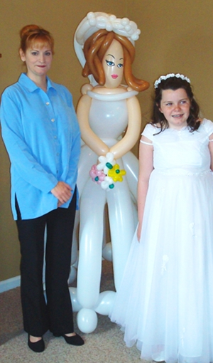 life sized bride balloon