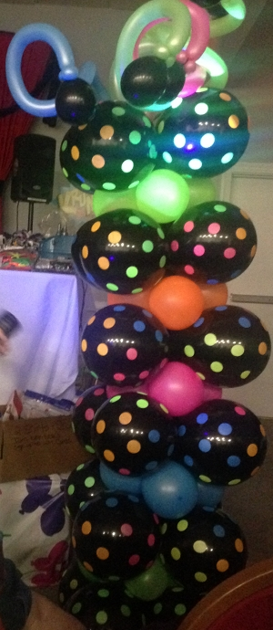 black light balloon decor