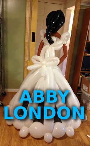 bride balloon sculpture