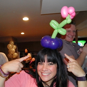 flower pot balloon hat