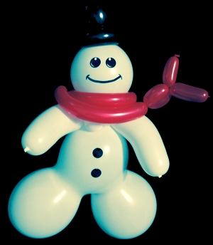 christmas balloon animal